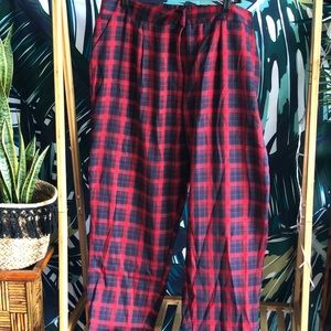 d4ac8a0e8203 NEVER WORN Red Tartan Ankle Trousers!